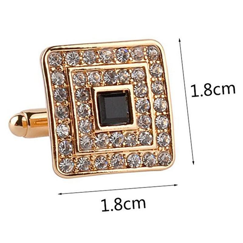 Fashion-Shirt-Cufflinks-Diamonds-Inlaid-Cufflinks-Delicate-Men-039-s-Jewelry-Fo-S2F6 thumbnail 9