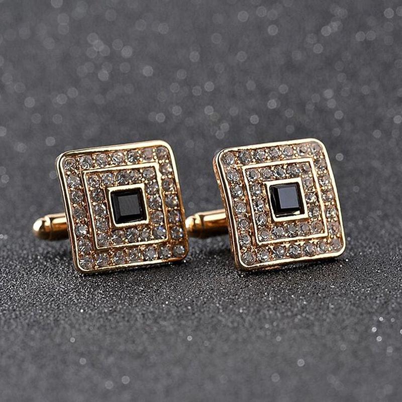 Fashion-Shirt-Cufflinks-Diamonds-Inlaid-Cufflinks-Delicate-Men-039-s-Jewelry-Fo-S2F6 thumbnail 12