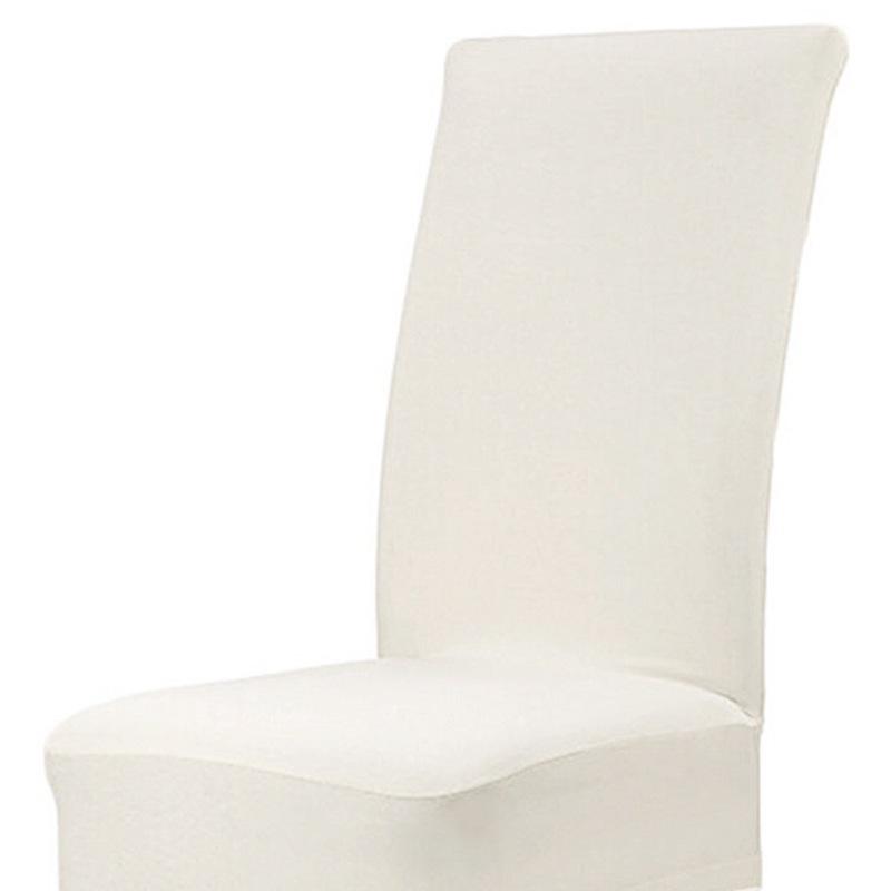 Housse-de-Chaise-de-Salle-a-Manger-Couverture-Couleur-Unie-Spandex-Z6U5 miniature 19