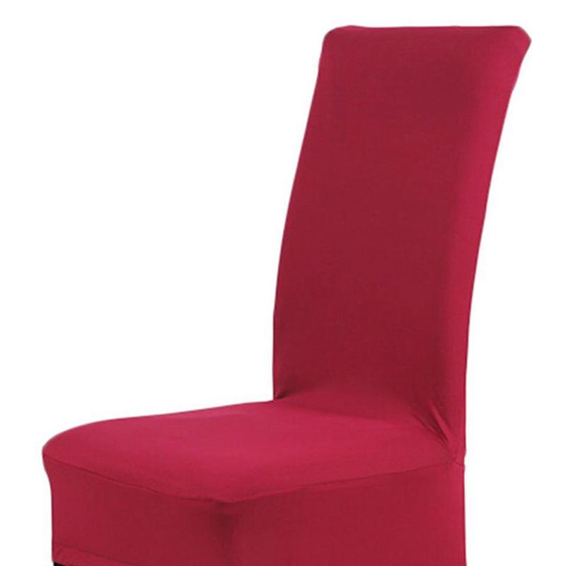 Housse-de-Chaise-de-Salle-a-Manger-Couverture-Couleur-Unie-Spandex-Z6U5 miniature 29