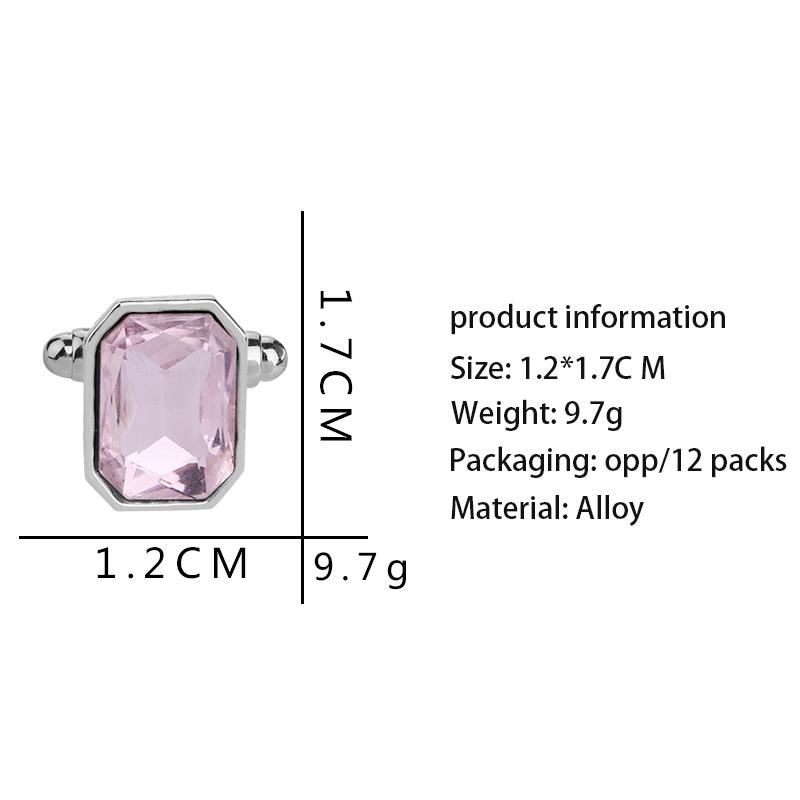1-Pair-Fashion-Diamond-Colorful-Glass-Cufflinks-Cuff-Links-Womens-Mens-Dres-F1X5 thumbnail 17