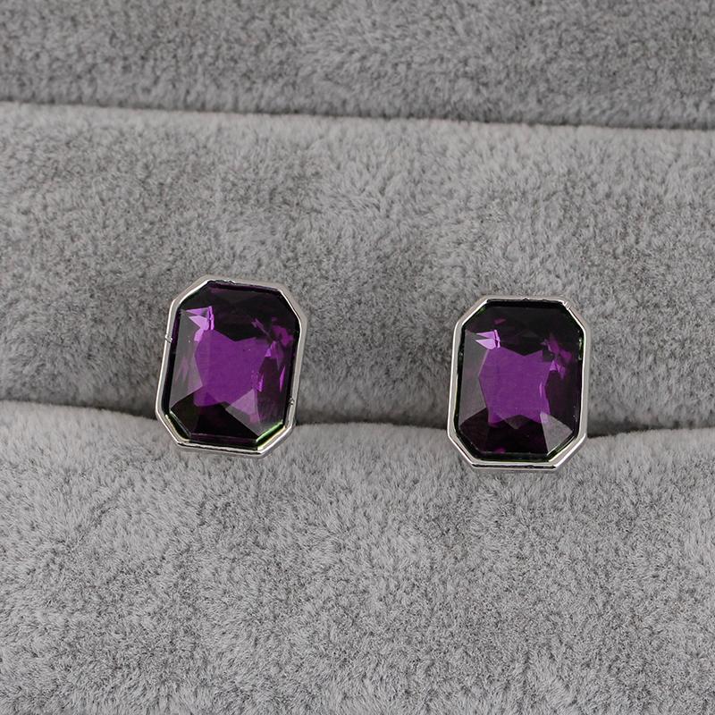1-Pair-Fashion-Diamond-Colorful-Glass-Cufflinks-Cuff-Links-Womens-Mens-Dres-F1X5 thumbnail 24