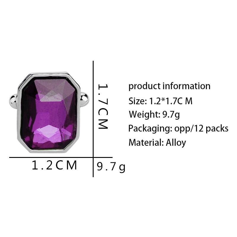 1-Pair-Fashion-Diamond-Colorful-Glass-Cufflinks-Cuff-Links-Womens-Mens-Dres-F1X5 thumbnail 25