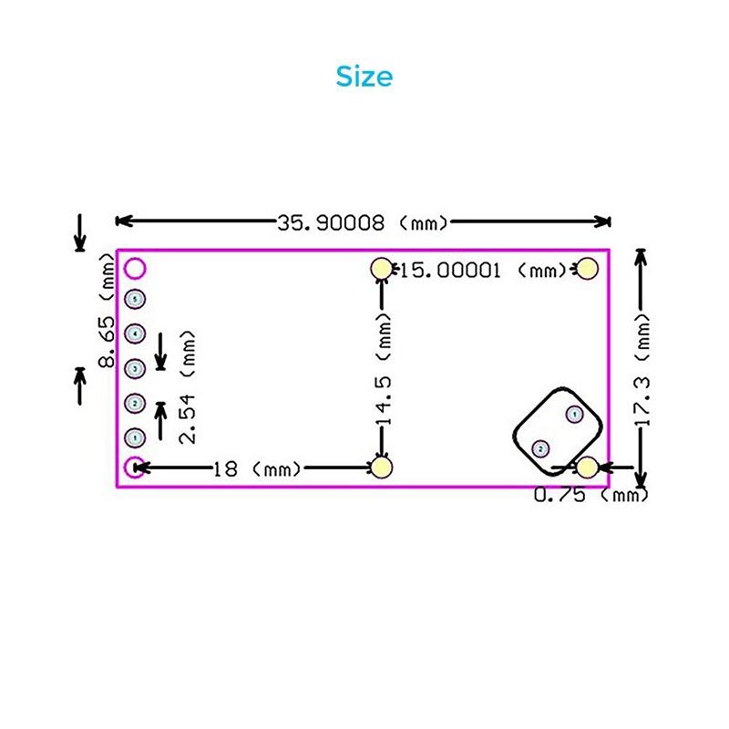 5 Stueck RCWL-0516 Mikrowellenradarsensor Clever Modul zum Schalten des men R5Y6