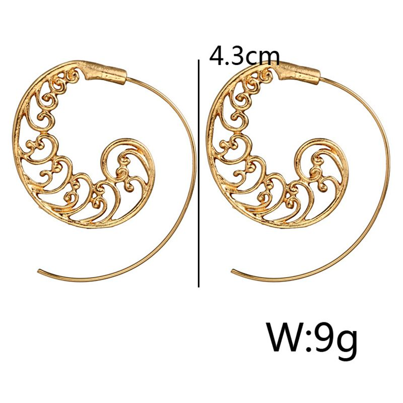 Ethnic-Bohemian-Drop-Earrings-For-Women-Spiral-Earrings-Exaggerated-Whirlpoo-2M1 thumbnail 4