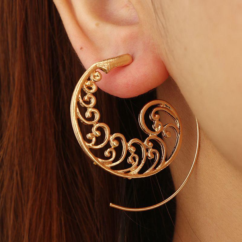 Ethnic-Bohemian-Drop-Earrings-For-Women-Spiral-Earrings-Exaggerated-Whirlpoo-2M1 thumbnail 5