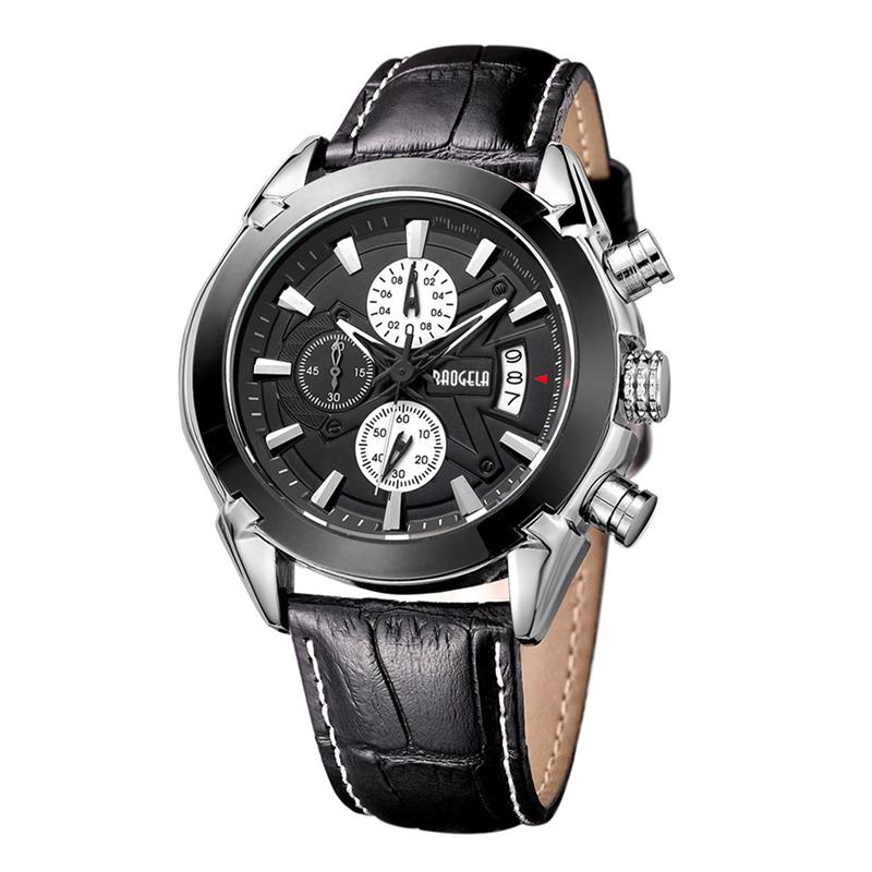 2X-BAOGELA-Herren-Chronograph-Luminous-Pointer-Fashion-Trend-Lederband-Spor-Q5D0 Indexbild 3