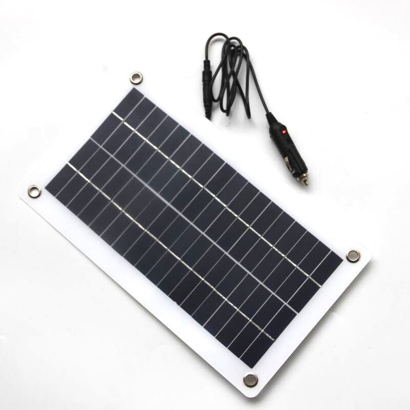 5x 10w 18v 12v tragbar solar panel ladegeraet mit dc 5521. Black Bedroom Furniture Sets. Home Design Ideas