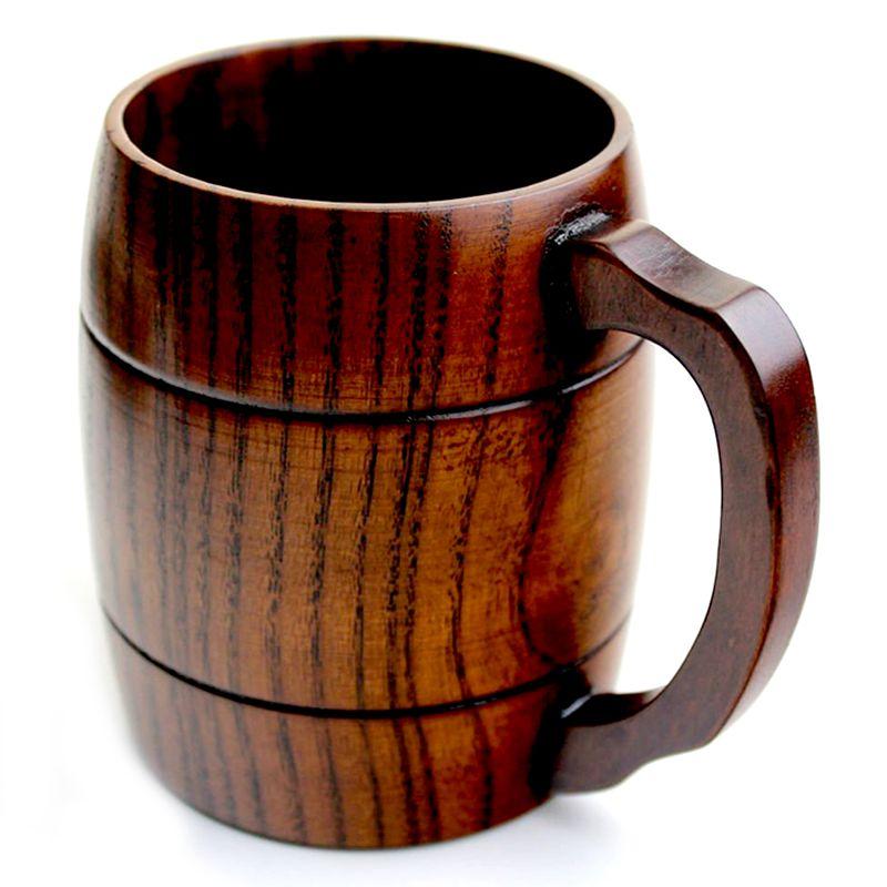 10X(Wood Wood Mug Beer Milk Coffee Drink Cup Wedding Gift L9H2)