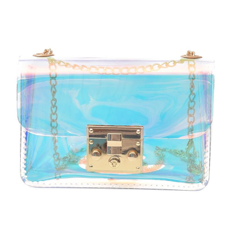 82905c2a31 Caricamento dell'immagine in corso 3X-Borsa-donna-trasparente-Borsa-PVC- trasparente-gelatina-
