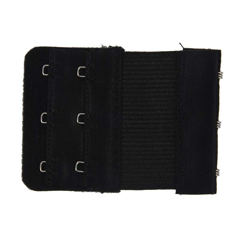 Women-Black-3-Rows-Hook-and-Eye-Tape-Elastic-Bra-Strap-Extenders-3-Pcs-Q3P9