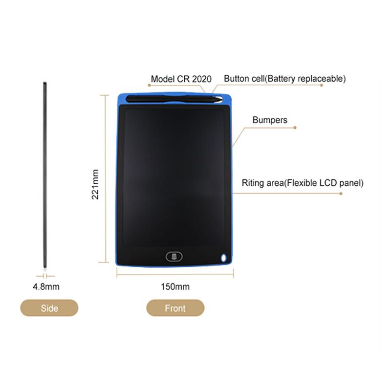 2X-A8-5-pouce-Panneau-d-039-ecriture-LCD-Tablette-d-039-ecriture-LCD-sans-papier-De-J6A9 miniature 11