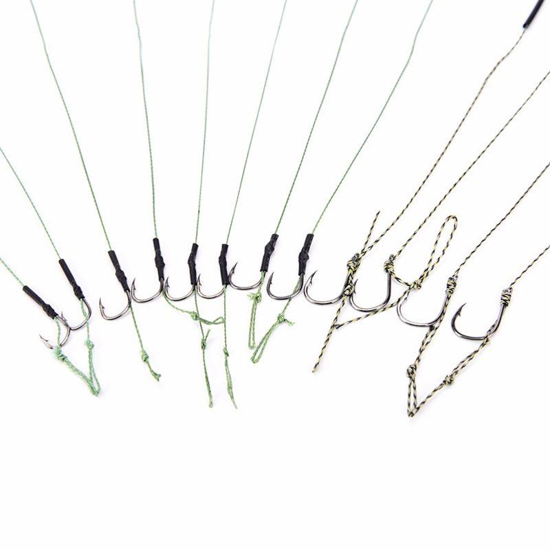 8-Piezas-4-paquete-Enlace-de-gancho-de-pesca-de-la-carpa-Gancho-de-aparej-D7L9 miniatura 4