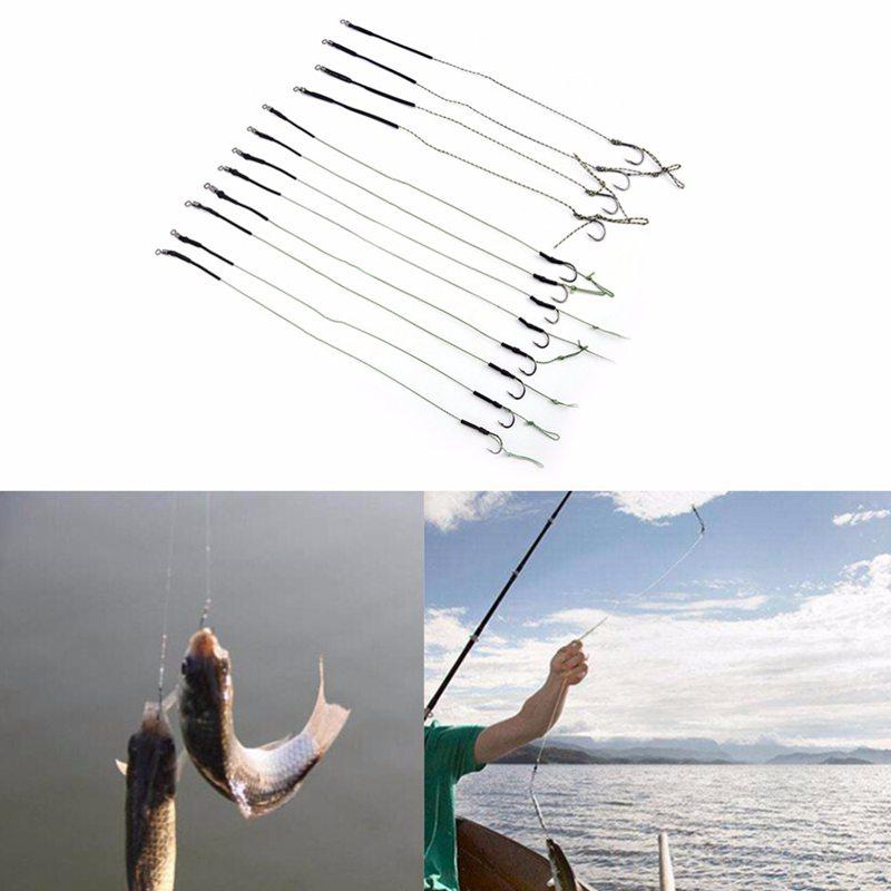 8-Piezas-4-paquete-Enlace-de-gancho-de-pesca-de-la-carpa-Gancho-de-aparej-D7L9 miniatura 5