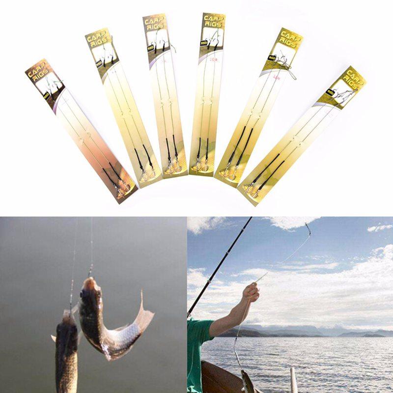 8-Piezas-4-paquete-Enlace-de-gancho-de-pesca-de-la-carpa-Gancho-de-aparej-D7L9 miniatura 8