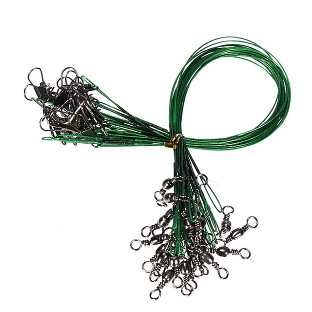 24PCS-lot-Fishing-Lure-Trace-Wire-Leader-line-Swivel-Tackle-Spinner-Shark-S-B6E3 thumbnail 6