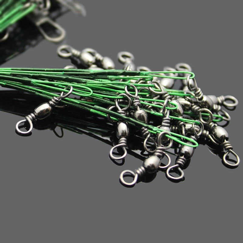 24PCS-lot-Fishing-Lure-Trace-Wire-Leader-line-Swivel-Tackle-Spinner-Shark-S-B6E3 thumbnail 10
