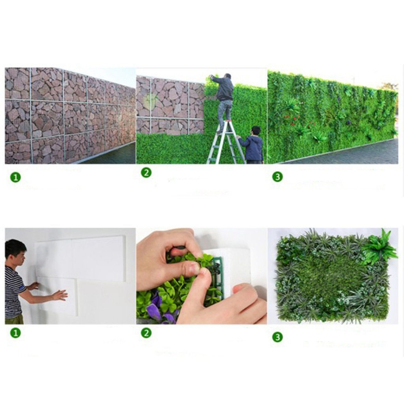 60-x-40cm-Panel-de-pared-artificial-del-cesped-artificial-del-prado-para-R8Z9 miniatura 7