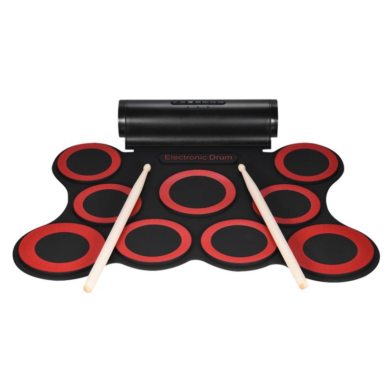2x stereo digital electronic drum portable roll up drum kit 9 silicon drum j5x3 ebay. Black Bedroom Furniture Sets. Home Design Ideas
