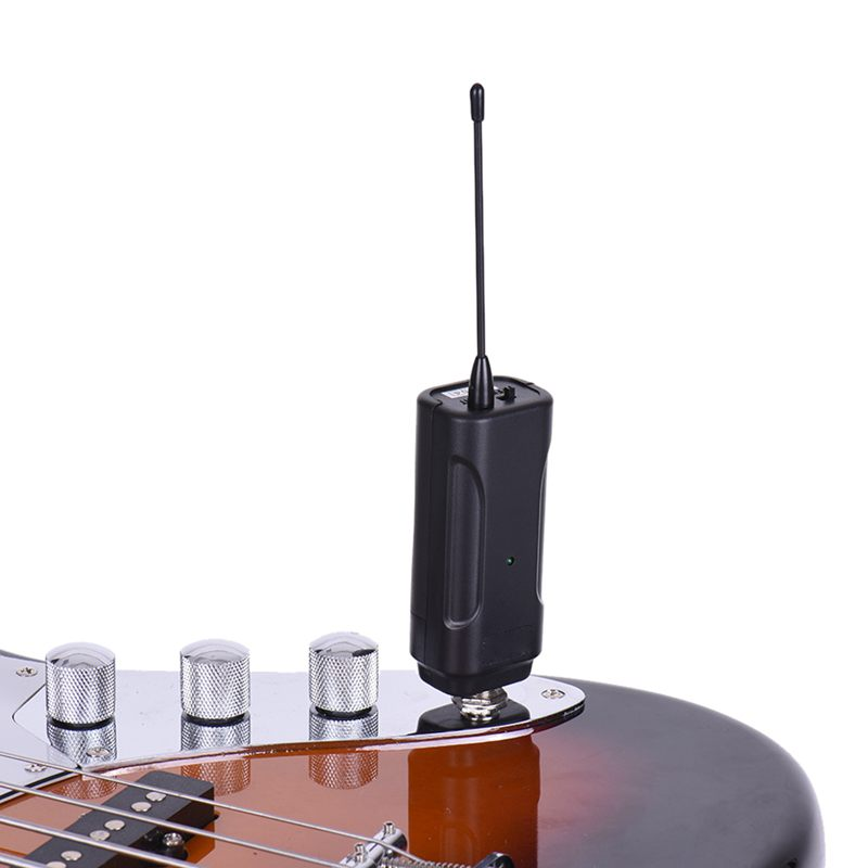 portable wireless audio transmitter receiver system for electric guitar bas f4b1 192948106491 ebay. Black Bedroom Furniture Sets. Home Design Ideas