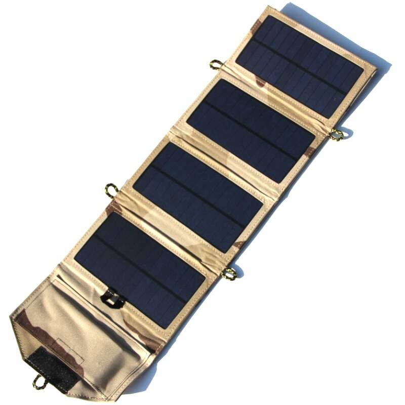 7w portable solar ladegeraet fuer handy iphone folding mono solar panel f i1y4 ebay. Black Bedroom Furniture Sets. Home Design Ideas