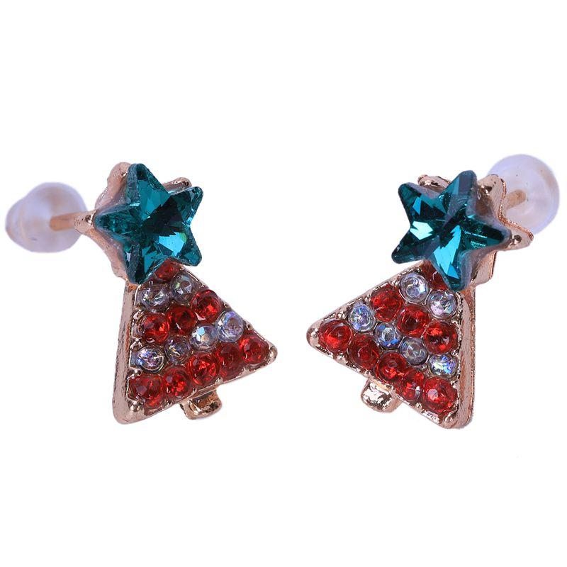 LC/_ HK femmes populaire Cristal Zircon TRIANGLE Boucles d/'oreille