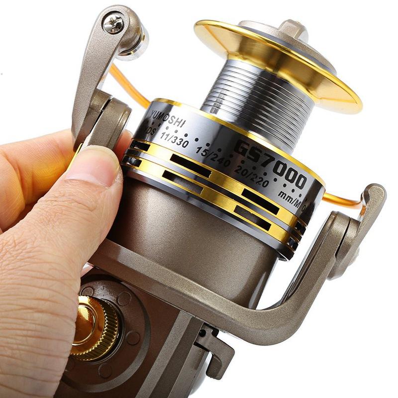 YUMOSHI-8-BB-poisson-ratio-5-1-1-Spinning-Moulinet-De-Peche-Manivelle-Poign-5X1 miniature 6