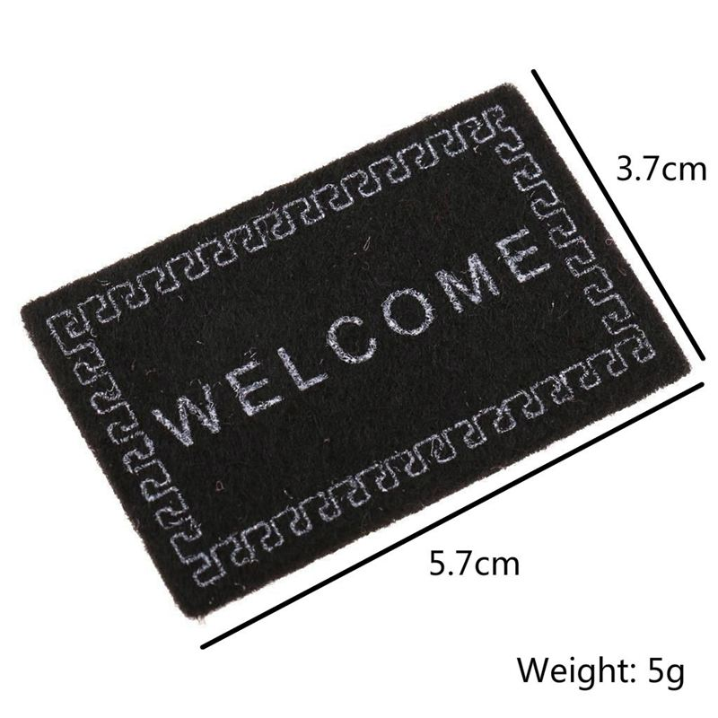 5X-Doll-House-Miniature-carpet-WELCOME-Mat-Dollhouse-Accessories-Home-amp-LivinF4U1 thumbnail 4