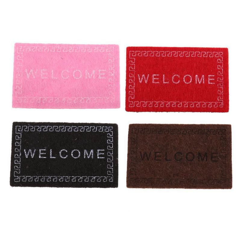 Doll-House-Miniature-carpet-WELCOME-Mat-Dollhouse-Accessories-Home-amp-Living-L1N5 thumbnail 3