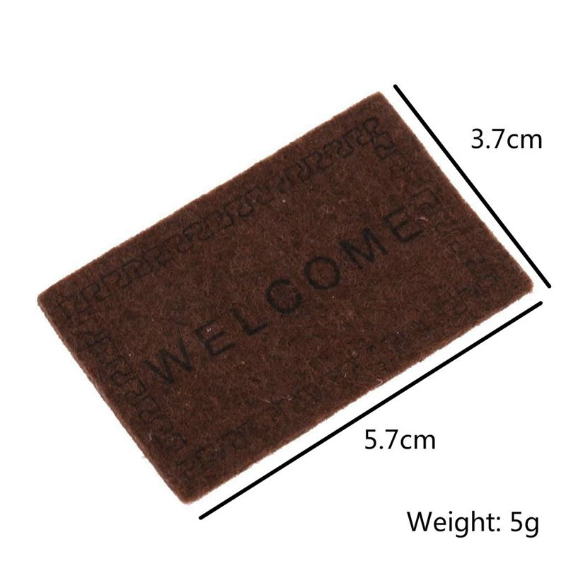 Doll-House-Miniature-carpet-WELCOME-Mat-Dollhouse-Accessories-Home-amp-Living-L1N5 thumbnail 13