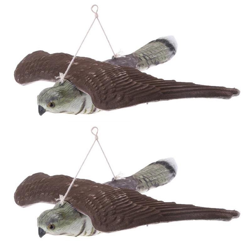 3X(2 x Vogelscheuche Falcon Figure Lure Jagd Garten Statuette Tiere Outdoor H1U4