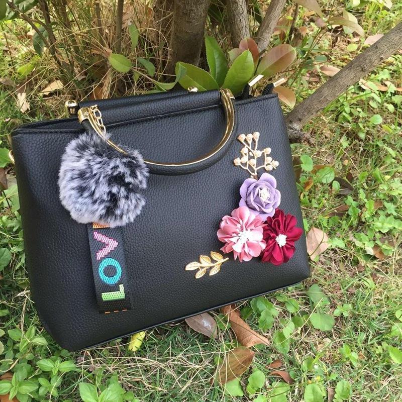 Blumen-Damen-Tote-Leder-Clutch-Bag-Kleine-Damen-Handtaschen-Damen-Messenger-B7N4 Indexbild 9
