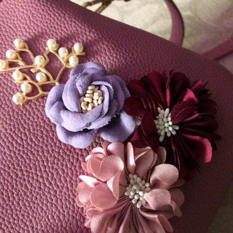 Blumen-Damen-Tote-Leder-Clutch-Bag-Kleine-Damen-Handtaschen-Damen-Messenger-B7N4 Indexbild 13