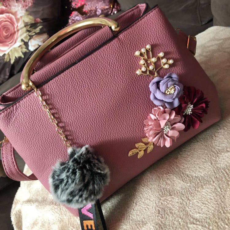 Blumen-Damen-Tote-Leder-Clutch-Bag-Kleine-Damen-Handtaschen-Damen-Messenger-B7N4 Indexbild 16