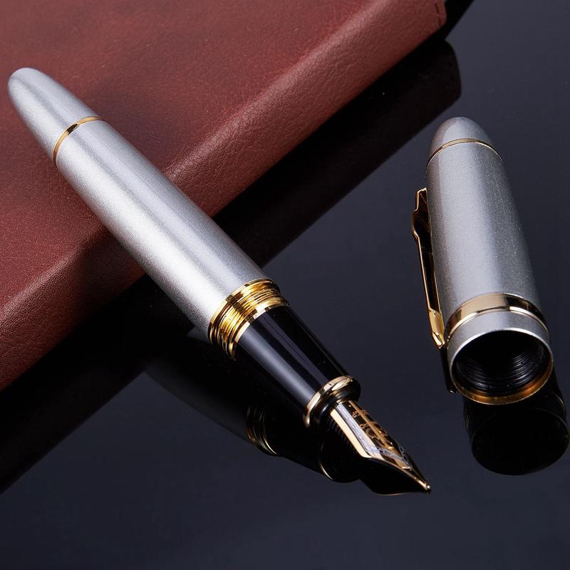 JINHAO-159-18KGP-0-7-mm-MOYEN-LARGE-PLUME-STYLO-Stylo-plume-de-bureau-gratu-G0T3 miniature 60