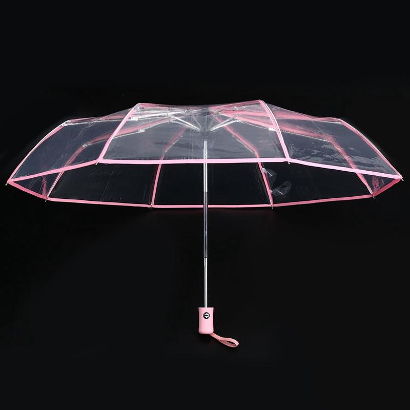 Transparenter-Regenschirm-automatischer-Regenschirm-Regen-Frauen-Maenner-Su-J7A9 Indexbild 4