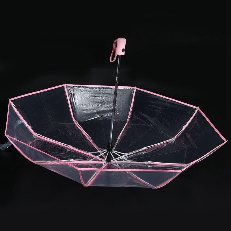 Transparenter-Regenschirm-automatischer-Regenschirm-Regen-Frauen-Maenner-Su-J7A9 Indexbild 5