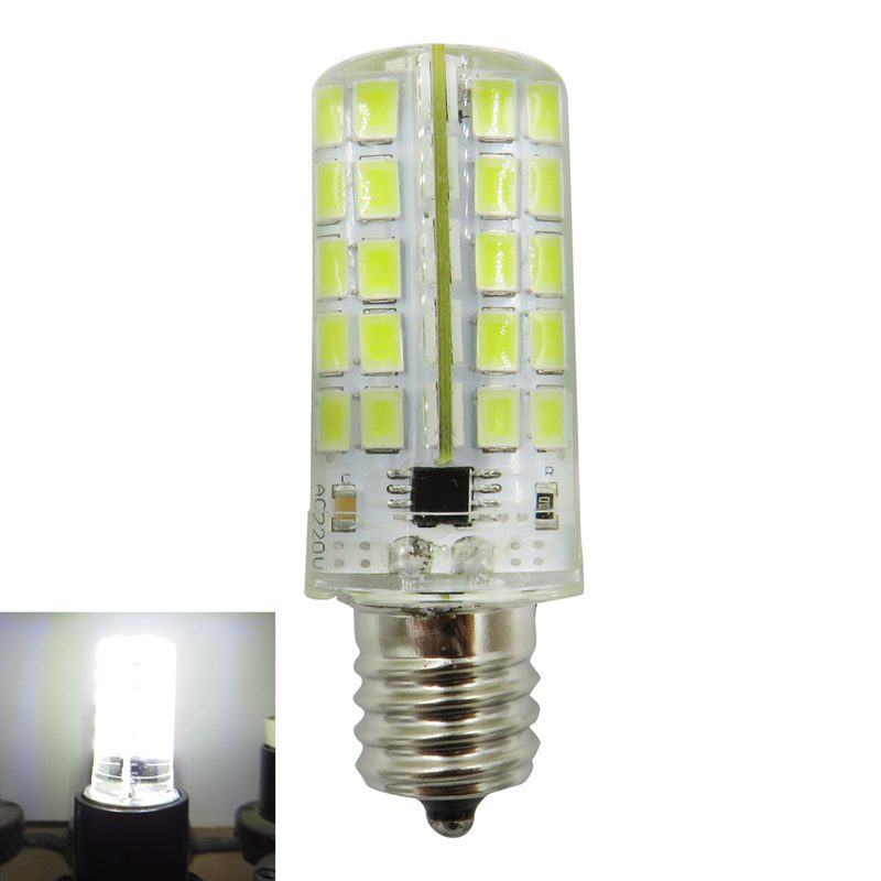 E17 LED Silicone Lamp Bulb 4W 80 Leds 220V 200-240V AC LED Chandelier Corn U0V6