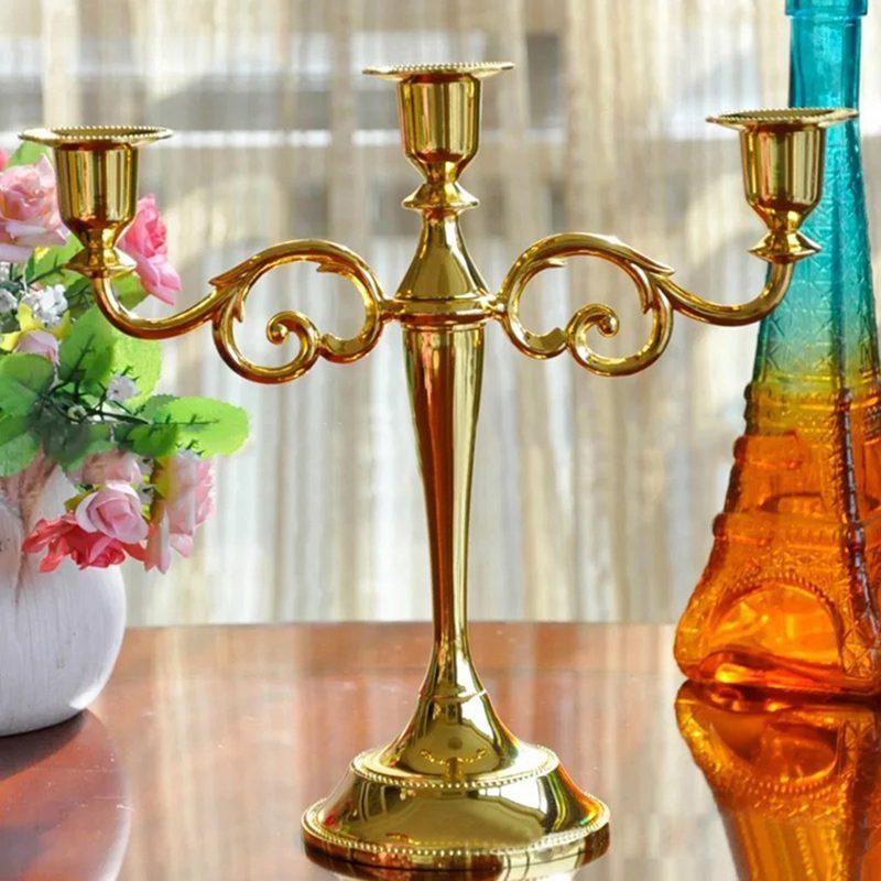 3-Candelabre-en-metal-pour-bougie-Grand-bougeoir-Candelabre-de-l-039-evenement-R5F4 miniature 7