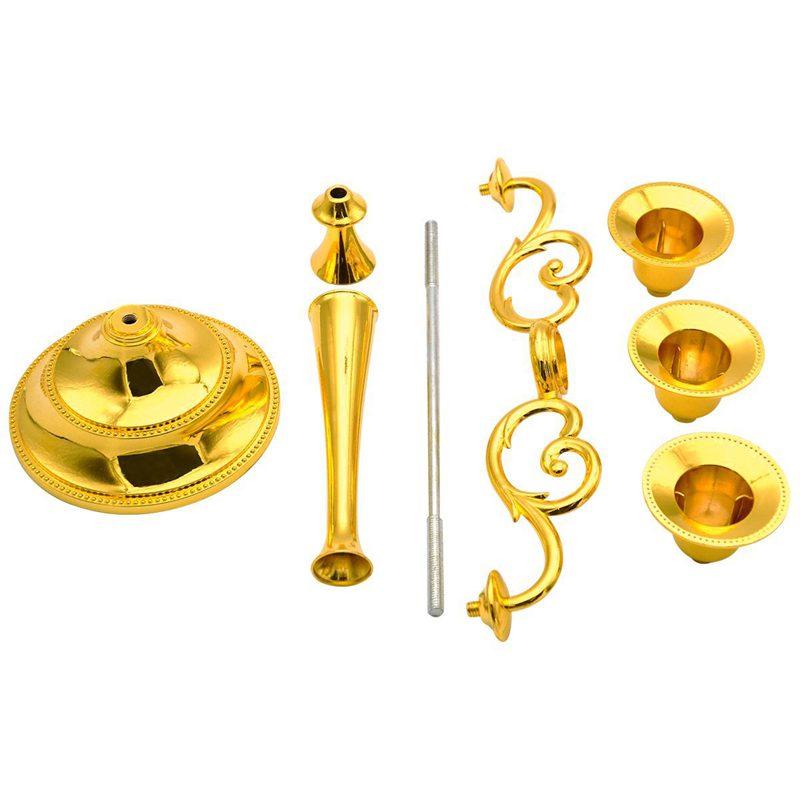 3-Candelabre-en-metal-pour-bougie-Grand-bougeoir-Candelabre-de-l-039-evenement-R5F4 miniature 8