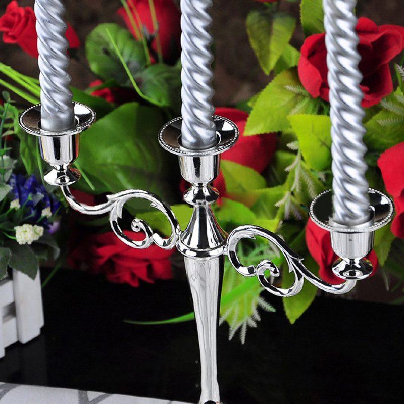 3-Candelabre-en-metal-pour-bougie-Grand-bougeoir-Candelabre-de-l-039-evenement-R5F4 miniature 19