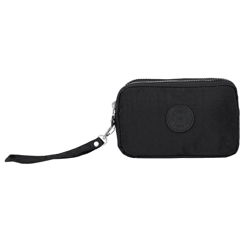 Petit-portefeuille-de-femmes-lavable-Porte-monnaie-en-tissu-froisse-de-tele-H8O0 miniature 9