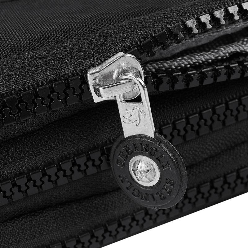 Petit-portefeuille-de-femmes-lavable-Porte-monnaie-en-tissu-froisse-de-tele-H8O0 miniature 15
