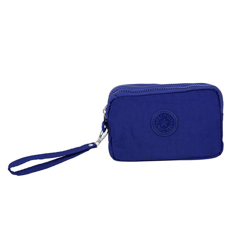 Petit-portefeuille-de-femmes-lavable-Porte-monnaie-en-tissu-froisse-de-tele-H8O0 miniature 17
