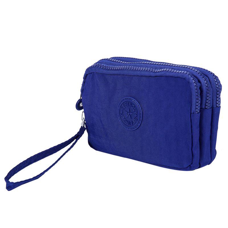 Petit-portefeuille-de-femmes-lavable-Porte-monnaie-en-tissu-froisse-de-teleph-SC miniature 16