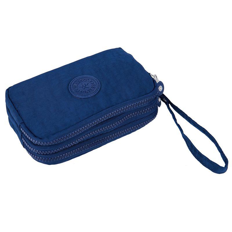 Petit-portefeuille-de-femmes-lavable-Porte-monnaie-en-tissu-froisse-de-tele-H8O0 miniature 26