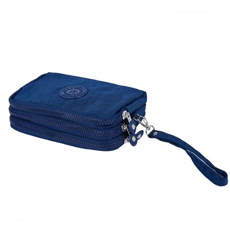 Petit-portefeuille-de-femmes-lavable-Porte-monnaie-en-tissu-froisse-de-tele-H8O0 miniature 27