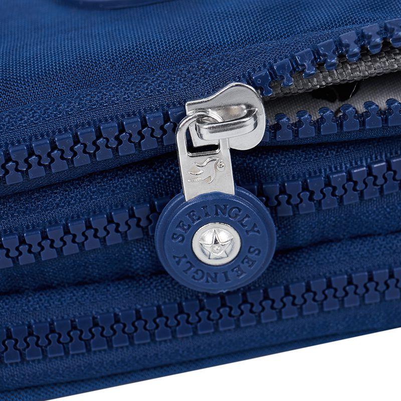 Petit-portefeuille-de-femmes-lavable-Porte-monnaie-en-tissu-froisse-de-tele-H8O0 miniature 31