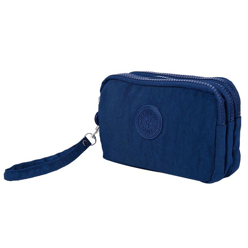 Petit-portefeuille-de-femmes-lavable-Porte-monnaie-en-tissu-froisse-de-teleph-SC miniature 25
