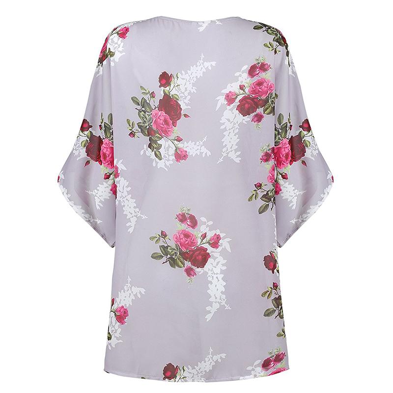 1X-Women-Floral-Loose-Kimono-Cardigan-Boho-Chiffon-Coat-Jacket-Blouse-E4C2
